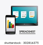 spreadsheet digital design ... | Shutterstock .eps vector #302816375