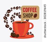 coffee time design  vector... | Shutterstock .eps vector #302819645