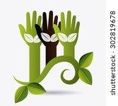 green eco design  vector... | Shutterstock .eps vector #302819678