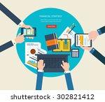 flat design illustration... | Shutterstock .eps vector #302821412