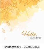 autumn vector cover  with... | Shutterstock .eps vector #302830868