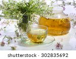 medical tea from grasses in a