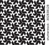 black graphic pattern abstract... | Shutterstock .eps vector #302838128