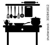 vector symbol fork food kitchen ...
