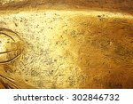 gold background or texture and... | Shutterstock . vector #302846732