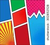 vector comics pop art style... | Shutterstock .eps vector #302852528