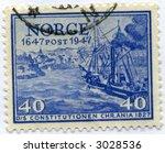 Vintage World Postage Stamp Ephemera norway (editorial) - stock photo
