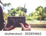 radio vintage   Shutterstock . vector #302854862