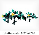 triangle pattern composition ... | Shutterstock .eps vector #302862266