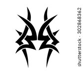 tribal tattoo vector design... | Shutterstock .eps vector #302868362