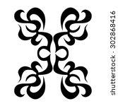tribal tattoo vector design... | Shutterstock .eps vector #302868416