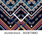 geometric ethnic pattern design ... | Shutterstock .eps vector #302873882
