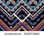 geometric ethnic pattern design ... | Shutterstock .eps vector #302873882
