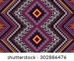 geometric ethnic pattern design ... | Shutterstock .eps vector #302886476