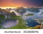 lofoten islands. view from... | Shutterstock . vector #302888096