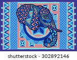 ethnic patterned head of... | Shutterstock .eps vector #302892146