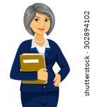 senior business women looking... | Shutterstock .eps vector #302894102