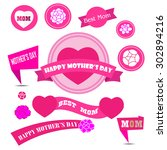 mother day decoration elements | Shutterstock .eps vector #302894216