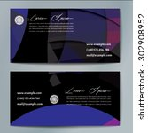 stylish business cards with... | Shutterstock .eps vector #302908952
