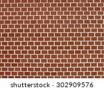 wall background of perfectly... | Shutterstock . vector #302909576