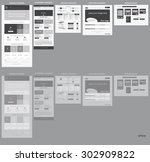responsive web elements for... | Shutterstock .eps vector #302909822