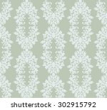 seamless damask pattern. vector ... | Shutterstock .eps vector #302915792