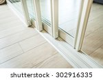 sliding glass door detail and... | Shutterstock . vector #302916335