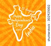 happy independence day in india.... | Shutterstock .eps vector #302925002