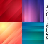 set of colorful minimalistic... | Shutterstock .eps vector #302927162