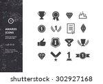 awards icons. vector set of... | Shutterstock .eps vector #302927168