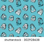 seamless pattern with different ... | Shutterstock .eps vector #302928638