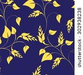 floral seamless pattern  ... | Shutterstock .eps vector #302938238