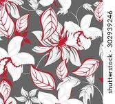 floral seamless pattern  ...   Shutterstock .eps vector #302939246