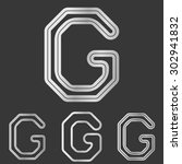 silver line g logo design set