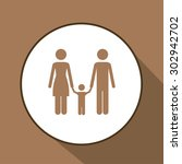 family digital design  vector... | Shutterstock .eps vector #302942702