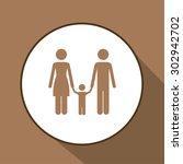 family digital design  vector... | Shutterstock .eps vector #302942702