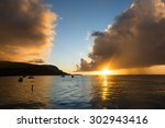 A Hawaiian Sunset Just After A...