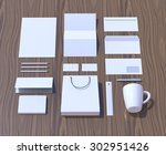 mock up render. brand identity...   Shutterstock . vector #302951426
