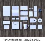 mock up render. brand identity... | Shutterstock . vector #302951432