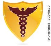 gold icon caduceus | Shutterstock . vector #30295630