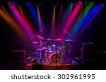 Drum Kit On Stage In The...