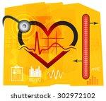 heart disease management  ...   Shutterstock .eps vector #302972102