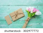 handmade gift boxes and card...   Shutterstock . vector #302977772
