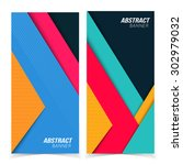 abstract banners. multicolored... | Shutterstock .eps vector #302979032