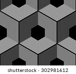 design element.  black and... | Shutterstock .eps vector #302981612