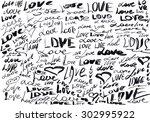 word love | Shutterstock . vector #302995922