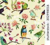 a seamless background pattern... | Shutterstock . vector #302998016