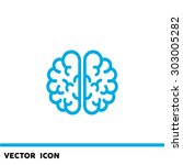 the human brain  web icon.... | Shutterstock .eps vector #303005282