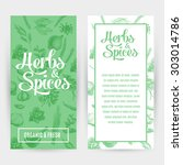 vector banners set with hand... | Shutterstock .eps vector #303014786