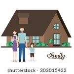 family digital design  vector... | Shutterstock .eps vector #303015422